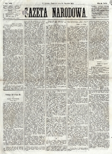 Gazeta Narodowa. R. 12, nr 15 (16 stycznia 1873)