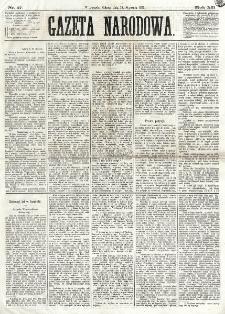 Gazeta Narodowa. R. 12, nr 17 (18 stycznia 1873)