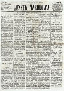 Gazeta Narodowa. R. 12, nr 19 (21 stycznia 1873)
