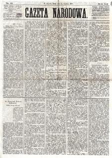 Gazeta Narodowa. R. 12, nr 21 (22 stycznia 1873)
