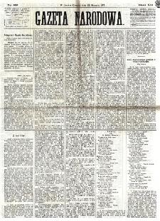 Gazeta Narodowa. R. 12, nr 22 (23 stycznia 1873)