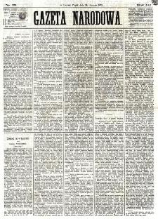 Gazeta Narodowa. R. 12, nr 23 (24 stycznia 1873)