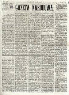 Gazeta Narodowa. R. 12 , nr 14 (15 stycznia 1873)