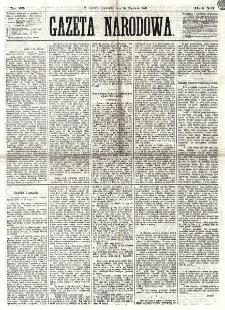 Gazeta Narodowa. R. 12, nr 25 (26 stycznia 1873)