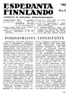 Esparanta Finlando. No. 6 (1962)