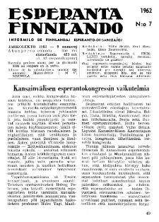 Esparanta Finlando. No. 7 (1962)