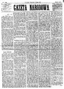 Gazeta Narodowa. R. 12, nr 33 (5 lutego 1873)
