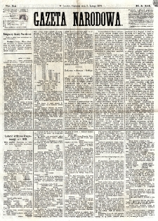 Gazeta Narodowa. R. 1, nr 34 (6 lutego 1873)