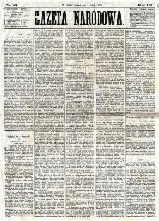Gazeta Narodowa. R. 12, nr 35 (7 lutego 1873)