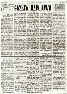 Gazeta Narodowa. R. 12, nr 37 (9 lutego 1873)