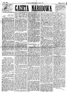 Gazeta Narodowa. R. 12, nr 39 (12 lutego 1873)