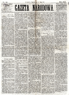 Gazeta Narodowa. R. 12, nr 40 (13 lutego 1873)
