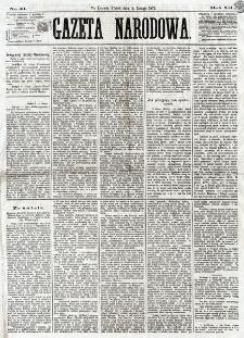 Gazeta Narodowa. R. 12, nr 41 (4 lutego 1873)