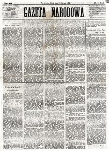 Gazeta Narodowa. R. 12, nr 42 (15 lutego 1873)