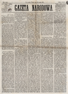 Gazeta Narodowa. R. 12, nr 44 (18 lutego 1873)