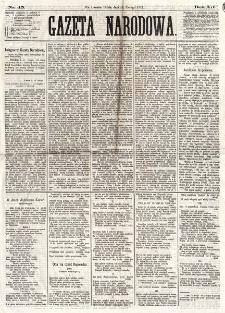 Gazeta Narodowa. R. 12, nr 45 (19 lutego 1873)