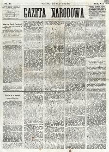 Gazeta Narodowa. R. 12, nr 47 (21 lutego 1873)