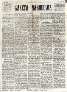Gazeta Narodowa. R. 12, nr 48 (22 lutego 1873)
