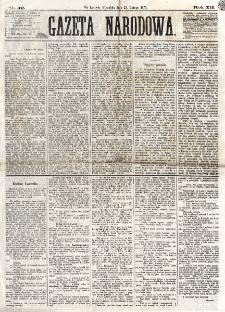 Gazeta Narodowa. R. 12, nr 49 (23 lutego 1873)