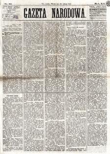 Gazeta Narodowa. R. 12, nr 50 (25 lutego 1873)