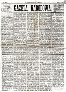 Gazeta Narodowa. R. 12, nr 51 (26 lutego 1873)