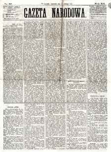 Gazeta Narodowa. R. 12, nr 52 (27 lutego 1873)