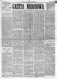 Gazeta Narodowa. R. 12, nr 54 (1 marca 1873)