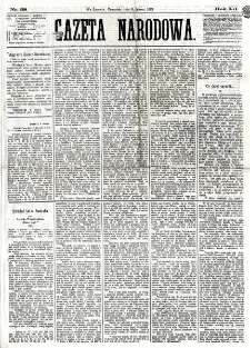Gazeta Narodowa. R. 12, nr 58 (6 marca 1873)