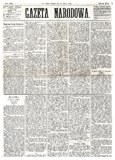 Gazeta Narodowa. R. 12, nr 65 (14 marca 1873)