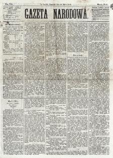 Gazeta Narodowa. R. 12, nr 70 (20 marca 1873)