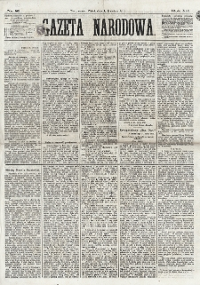 Gazeta Narodowa. R. 12, nr 81[!] (4 kwietnia 1873)