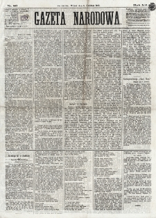 Gazeta Narodowa. R. 12, nr 86 (8 kwietnia 1873)