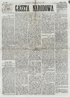 Gazeta Narodowa. R. 12, nr 87 (9 kwietnia 1873)