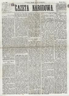 Gazeta Narodowa. R. 12, nr 88 (10 kwietnia 1873)