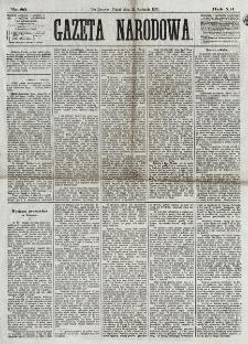 Gazeta Narodowa. R. 12, nr 89 (11 kwietnia 1873)