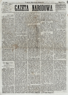 Gazeta Narodowa. R. 12, nr 90 (12 kwietnia 1873)