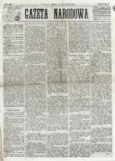 Gazeta Narodowa. R. 12, nr 91 (13 kwietnia 1873)