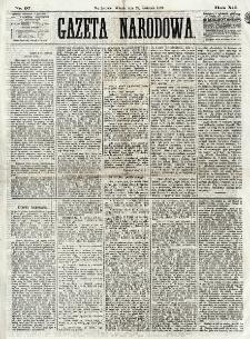 Gazeta Narodowa. R. 12, nr 97 (22 kwietnia 1873)