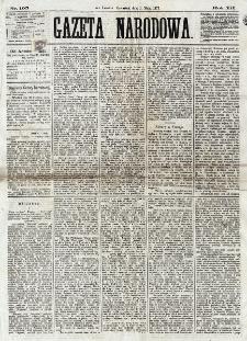 Gazeta Narodowa. R. 12, nr 105 (1 maja 1873)