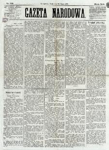 Gazeta Narodowa. R. 12, nr 75 (26 marca 1873)