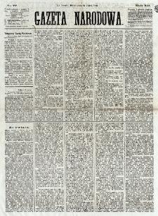 Gazeta Narodowa. R. 12, nr 77 (28 marca 1873)