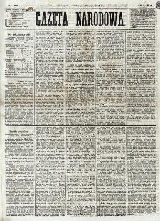 Gazeta Narodowa. R. 12, nr 78 (29 marca 1873)