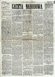 Gazeta Narodowa. R. 12, nr 114 (11 maja 1873)