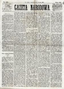 Gazeta Narodowa. R. 12, nr 221 (18 września 1873)