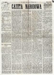 Gazeta Narodowa. R. 12, nr 222 (19 września 1873)