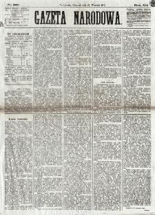 Gazeta Narodowa. R. 12, nr 227 (25 września 1873)