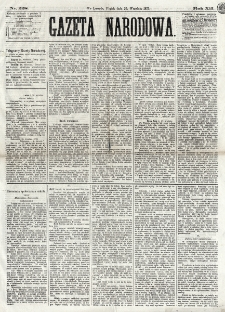Gazeta Narodowa. R. 12, nr 228 (26 września 1873)