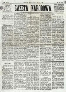 Gazeta Narodowa. R. 12, nr 235 (4 października 1873)