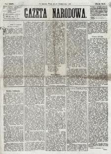 Gazeta Narodowa. R. 12, nr 238 (8 października 1873)