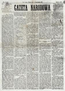 Gazeta Narodowa. R. 12, nr 243 (14 października 1873)